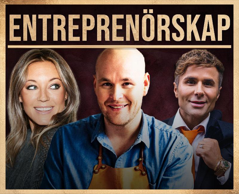 loungepoddens avsnitt med Sveriges mest framgångsrika entreprenörer som Johan Jureskog, Nicole Nordin, sigge Bilajbegovic, Michaela Forni, Tara Derakshan från Sniph och andra inom entrenörskap
