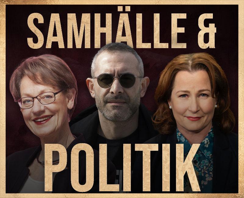 Sveriges mest fascinerande, framgångsrika och kontroversiella samhällsdebattörer och politiker såsom komiker och libertarianen Aron Flam och SVT journalisten Anna Hedenmo och socialdemokraten Jan Emanuel